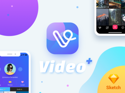 Video Plus for iPhone X (Sketch Freebie)