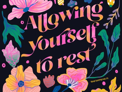Quotes Of The Day pink vibrant color self care quotes poster quote design typography illustration vector design