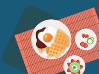 Savoury Breakfast Waffles