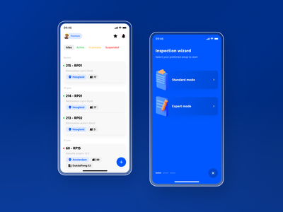 Building inspection app minimal flat icon ux app design design app 3d