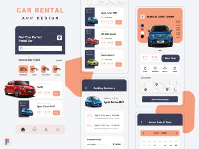 Car Rental App Concept rental app car ui kits minimal ui design ios app design mobile app design daily-ui-design ui-design daily-ui-design-challenge
