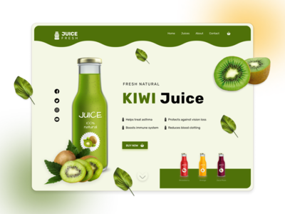 Juice Fresh Landing Page Design Concept ecommerce design juice website design daily ui design challenge template design figma user interface design ui ux web landing page ui web design
