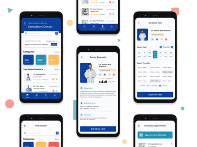 Doctor Appointment App Design ui ux design photoshop illustrator figma appointment booking doctor app ios app android app ux design user experience design user interface design ui-design daily ui design challenge daily-ui-design mobile app design