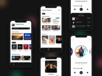 Music Player Mobile App player music exploration application design android design apple design daily design music app player ui player app music player app music player ui ios app design mobile app design user experience design user interface design ui ux design daily ui design challenge ui challenge daily ui