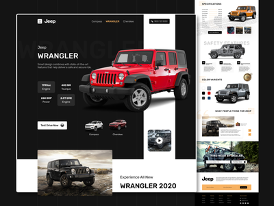 Jeep Landing Page Design jeep ecommerce design car landing page car illustrator photoshop figma user experience design user interface design landing page concept website design ui ux design ux design ui design landing page ui web landing page web design design daily ui design daily ui challenge