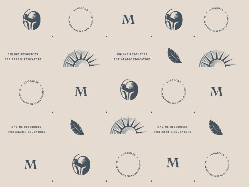 Al Masdar Logo Repeat icon vector free throw design brand branding agency illustration icons typographic typography pattern branding logo