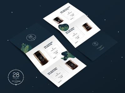 28LUNAS. Brochure design