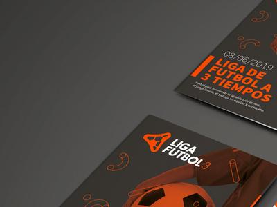 LIGA FUTBOL 3. Branding y diseño gráfico