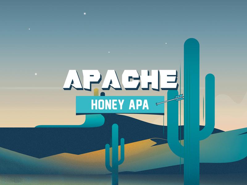 APACHE. Branding and packaging design honey illustration packaging design beer branding beer label label packaging labeldesign label craft beer beer brand identity brand design branding apache