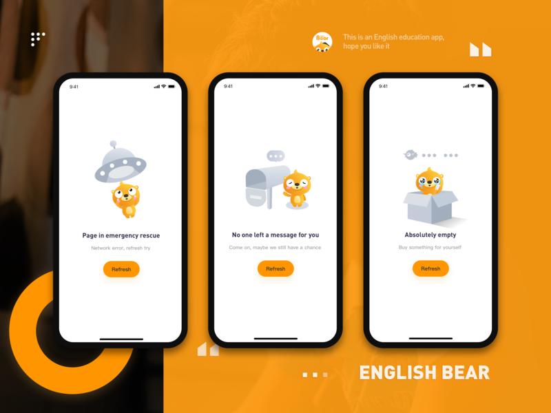 empty status illustration app ui design