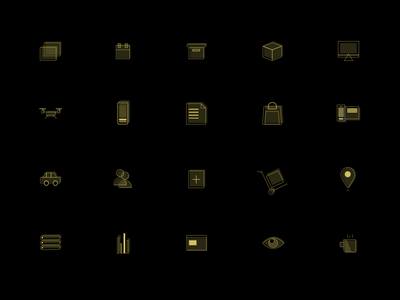 Gold Icons icons adobe xd design icon design illustration gold services icons pack ui ux design branding ui ux vector logo icon
