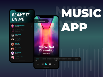 Music Player mobile design playlist music prototyping mobile wireframing mobile app ux ui ui ux ux design ui design adobe xd music player player music app