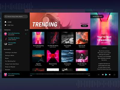 Music App Desktop playlist music desktop desktop design web design design wireframing ux ui ui ux ux design ui design music player player adobe xd desktop app music app