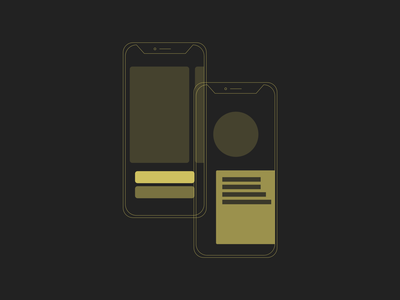 Lo-Fi iPhone wireframing design wireframe lo-fi adobe xd illustration mobile iphone phone