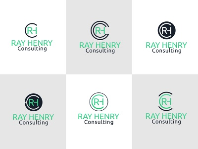 Ray Henry Consulting Logo Design creative design solution vinustudios creative logo sans serif font workshops logo training logo consulting iconic logo minimalist logo logo design ray henry logo ray henry consulting logo