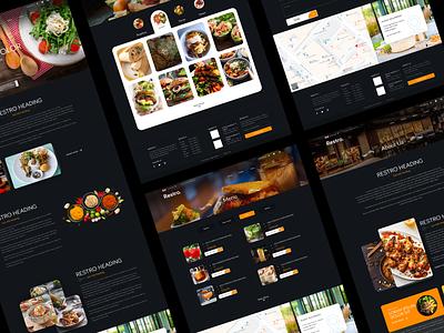 Restro Web UI/UX dark theme ui menu design food services web design online food restaurant website restaurant app website design web ux web ui