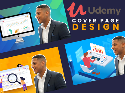 Udemy Cover Page Design cover art seo cover design mock presentation design cover page udemy