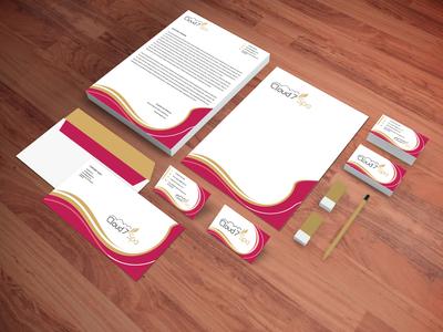 Cloud7Spa Branding coverletter businesscarddesign letterhead branding logodesign logo