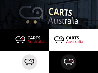 Carts Australia Logo Design creativedesignsolution vinustudios icondesign branding cartsaustralia logo design