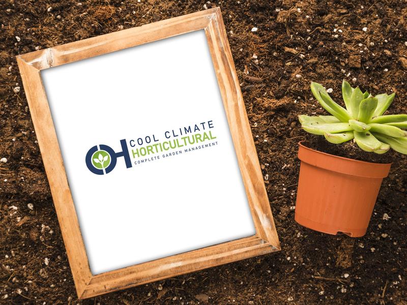 Cool Climate Horticultural Logo Design mockup branding iconic design logo design
