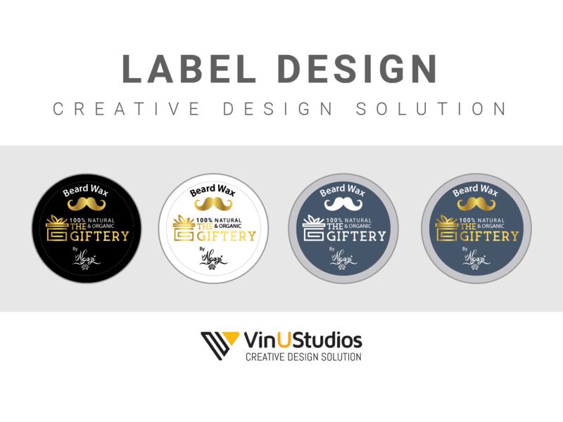 Label design ngozi the giftery beard wax logo design label design