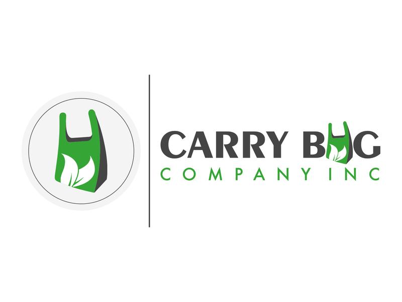 Carry bag Company Inc Logo Design logo mock flat logo creative logo iconic logo creativedesignsolution vinustudios logo design plastic bag food packaging products plastic paper
