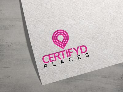 Certifyd Places logo Design minimal logomockup design concept branding logo design creative logo design location logo creative logo certifyd places certifyd brand identity brand design