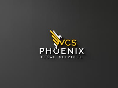 WCS Phoenix Legal Services gold logo creative logo minimalist logo flat logo branding phoenix logo wcs logo logo mockup logo design