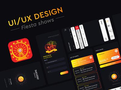 Fiesta Shows App UI/UX Design carnival app icon logo app ui ux design