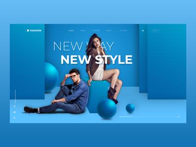 Fashion Web UI/UX