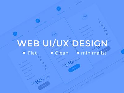 Web UI/UX Design authorize app profile popup logout login website steps plan feed price table clean responsive minimalist flat dashboard ux design web design web ui