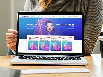 Event Web UI/UX music party events plaint planitevents flat ui event website web design web ux web ui