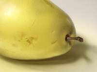 Photorealistic pear=)) not pineapple=))