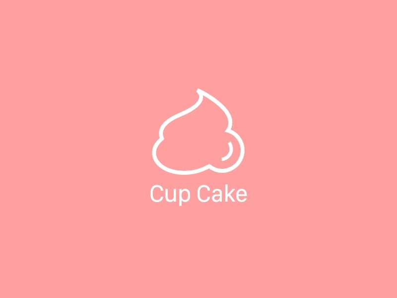 Cup Cake logo cup cake