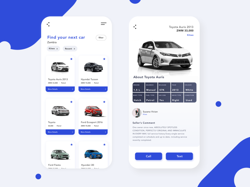 Car Trading App iphoneapp uxdesigner user interface carui car uxdesign uxui ui earthday app  design app
