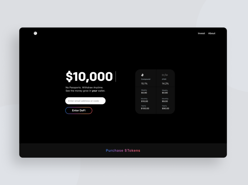 Earn Interest with Crypto! digital currency money clean ui webdesign interest blockchain bitcoin ethereum visual design ui design ux design webapp decentralized defi tokens cryptocurrency crypto
