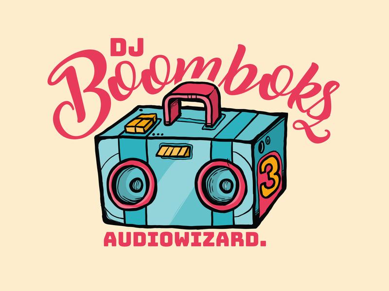 DJ Boombox illustrator branding logo vector illustration design