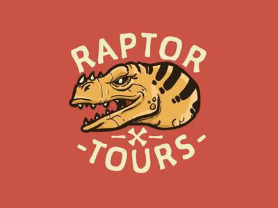 Raptor Tours Logo branding vector illustration design logo