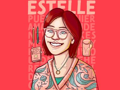 Estelle Vector Portrait portrait illustration portrait design portrait art portrait illustrator illustrations character vector illustration design