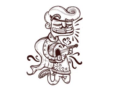 Floaty Guitar Guy vector illustration character illustrations illustrator characterdesign illustration design vector