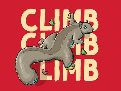 Climb Squirrel squirrel t-shirt illustration t-shirt design illustrations characterdesign illustrator vector illustration design