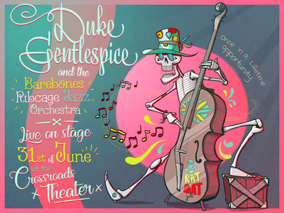 Duke Gentlespice Poster illustrator vector design illustration band poster poster design poster art poster