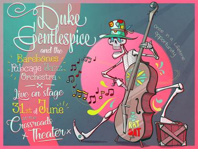 Duke Gentlespice Poster illustrator vector design illustration band poster poster design poster art poster