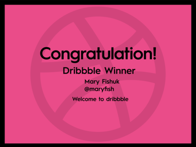 Congratulation Dribbble Winner