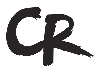 CR monogram redo handmade lettering branding twitch monogram logo