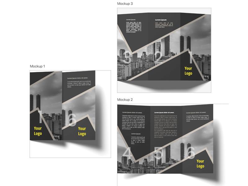 three folded brochure black by kristina simeonova dribbble dribbble