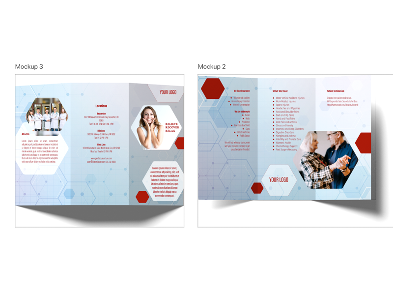 three folded brochure by kristina simeonova dribbble