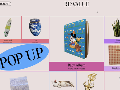 RE:VALUE Collection archive digital design app e-commerce screen product design ux web website ui store pop up