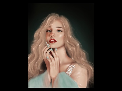 Study #4 drawing portrait girl graphic design illustration digital painting procreate digital