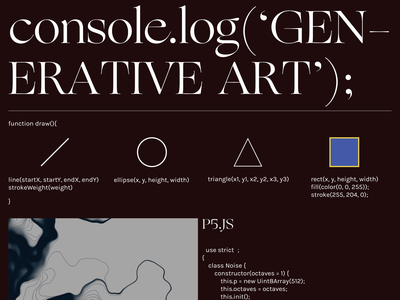 Intro to Generative Art Poster geometric web design design poster p5.js js javascript generative art